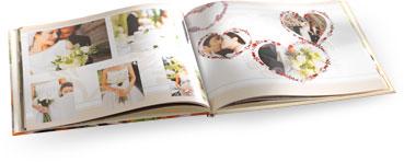 Eksempler på bryllupsfotobøgerne