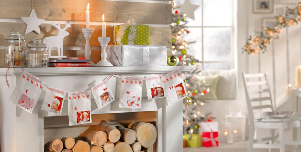 Julekalender med fotoklistermærker