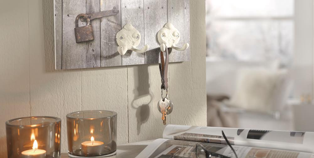 Foto på hård forex-skumplade som nøglebræt