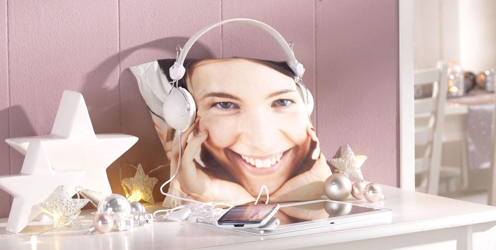 Foto cojín para auriculares