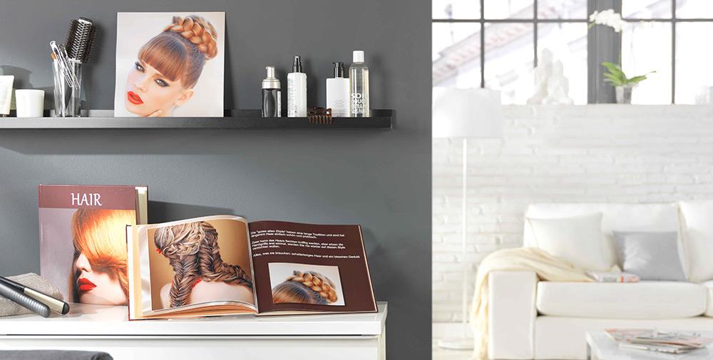 Álbum digital Pixum como libro de peinados