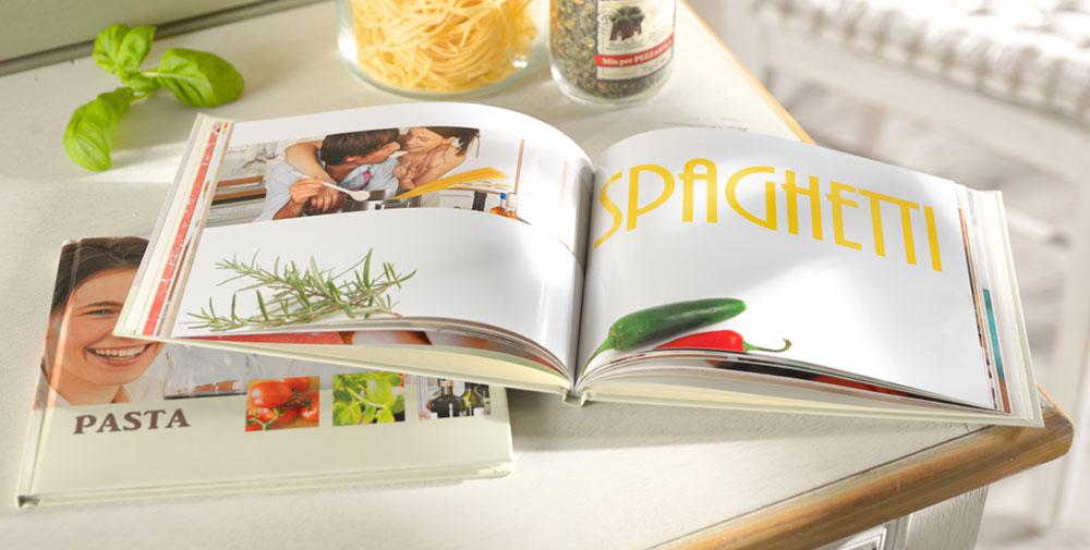Álbum digital Pixum como libro de cocina