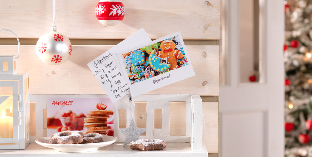 Recipe postcards