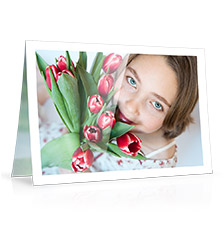 Folded Cards M (long fold) - set of 10 (double side print, standard paper glossy)