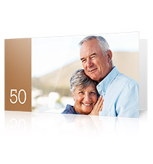 Folded Cards L (long fold) - set of 10 (single-sided print, standard paper glossy)