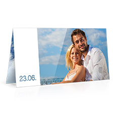 Folding Card long fold L - set of 10 (double side print, standard paper glossy)