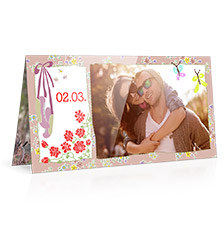 Design Folded Cards L (long fold) - set of 10 (double side print, standard paper glossy)