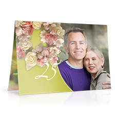 Design Folding Card long fold M - set of 10 (double side print, premium paper matt)
