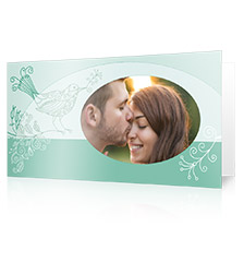Design Folding Card short fold L - set of 10 (single side print, premium paper matt)