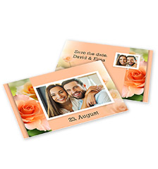 Carte photo avec motif M - Lot de 10 cartes (impression recto-verso, papier carte mat)