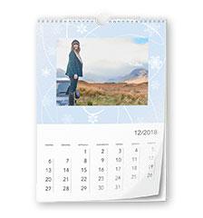 Design-kalender A4 (staand, fotopapier)