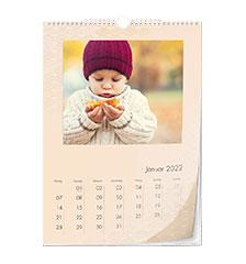 Calendario clásico de diseño A3 (vertical, papel fotográfico)