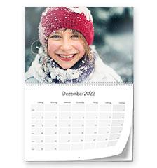 Wandkalender Klapp A2 (hoch, Premiumpapier matt)