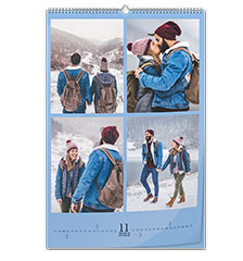 Wall calendar classic A2 (portrait, photo paper)