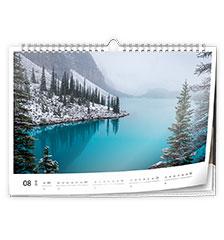Wall calendar classic A4 (landscape)