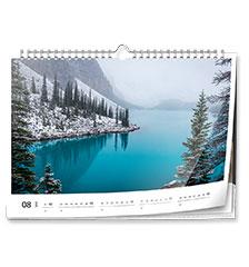 Wall calendar classic A4 (landscape, glossy paper)