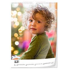 Wall calendar classic A4 (portrait, glossy paper)