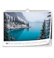 Calendario classic A4 (panoramico, carta premium extra satinata)