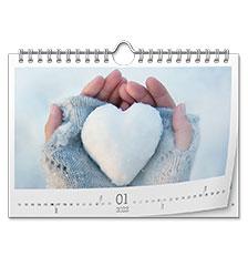 Wall calendar classic A5 (landscape, premium paper matt)