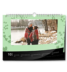 Calendario design classic A4 (panoramico, su carta fotografica lucida)