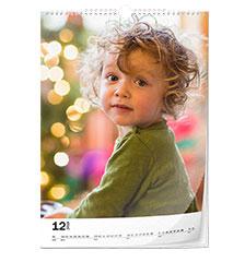 Calendario clásico A4 (vertical, papel fotográfico)