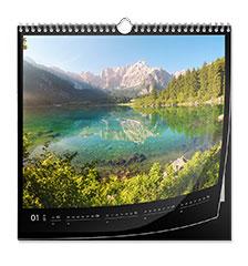 Calendario clásico (cuadrado, papel fotográfico brillante)
