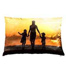 Cuscino con foto fronte e retro (60×40 cm)