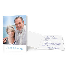 Folded cards with long fold XL - set of 10 (single-sided printing)