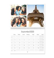 Calendario pieghevole A3 (verticale, carta premium satinata)