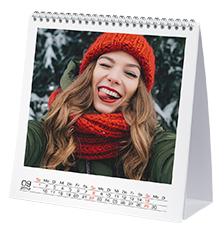 Free-standing Desk Calendar Large (square, premium paper matt)