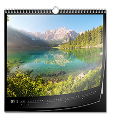 Calendrier photo carré  30×30 cm (Papier premium mat satiné)
