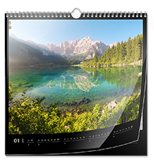 Calendrier photo carré 30×30 cm (Papier premium brillant)