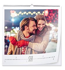 Wandkalender quadratisch 45×45 cm (Premiumpapier edelmatt)