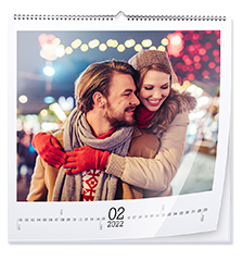 Wandkalender quadratisch 45×45 cm (Premiumpapier glänzend)
