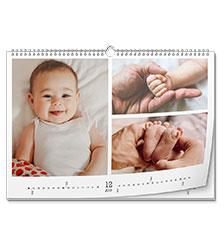 Calendario classic A3 (panoramico, carta premium extra satinata)
