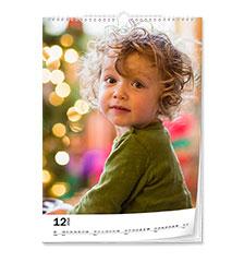 Calendario classic A4 (verticale, carta premium extra satinata)
