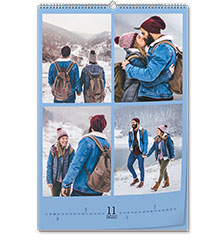 Calendario de pared clásico A2 (vertical, papel premium extra mate)