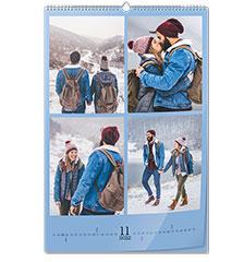 Calendario de pared clásico A2 (vertical, papel premium brillante)