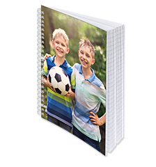 Spiral Bound Photo Notebook A5 (ruled)