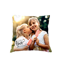 Personalised Pillow Case with Design, 30×30 cm