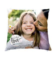 Personalised Pillow Case with Design, 40×40 cm