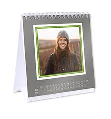 Calendario de diseño de escritorio (cuadrado)