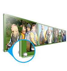 Multi photo panel on acrylic 80×20cm (direct print)