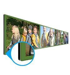 Tableau multiphoto alu 80×20 cm (impression directe)