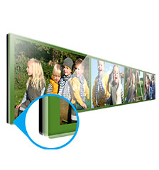 Gallery print photo panel - 120×20 cm (direct print)