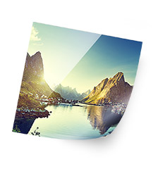 High-end fotoposter 40×40 cm (parelmoer)