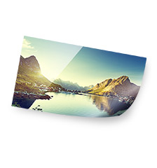 Photo poster - 80x20 cm (pearlescent)