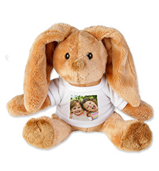 Cuddly toy with photo t-shirt (bunny)