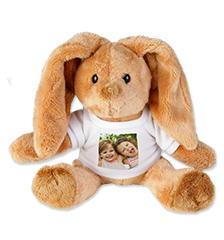 Peluche con foto T-shirt (coniglio)