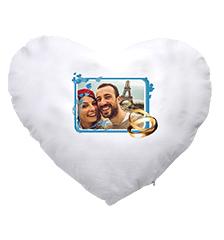 Design-kussen met foto (hartvormig)